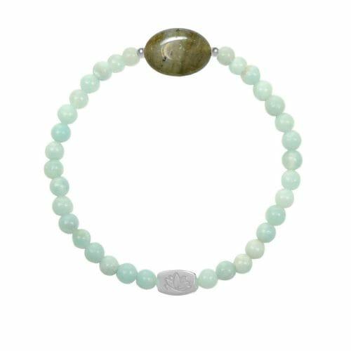 Mas Jewelz Amazonit Armband mit Labradorit Oval Silber