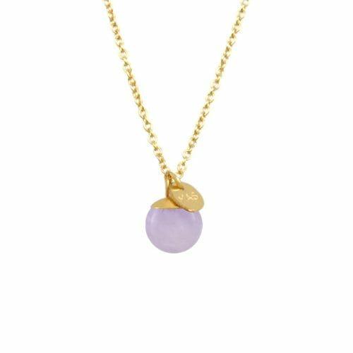 Mas Jewelz necklace Classic Light Amethyst Gold