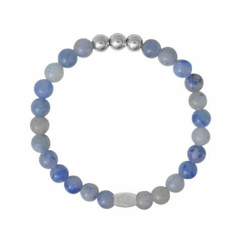 Mas Jewelz 6 mm Blue Quartz Silver