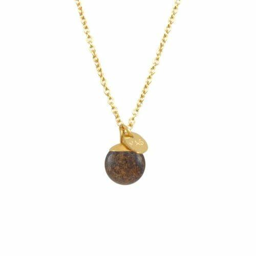 Mas Jewelz necklace Classic Bronzite Gold
