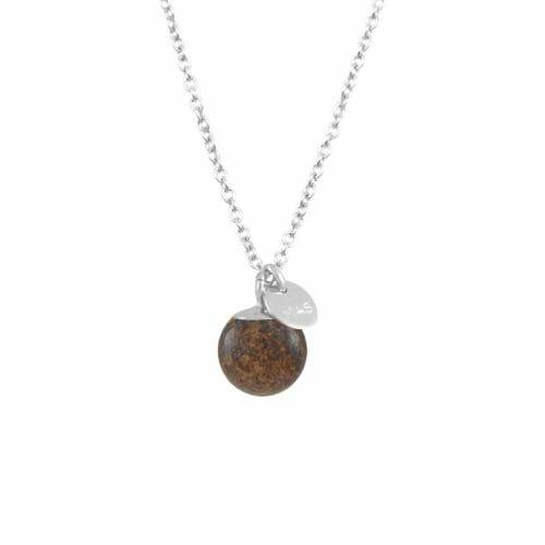 Mas Jewelz necklace Classic Bronzite Silver
