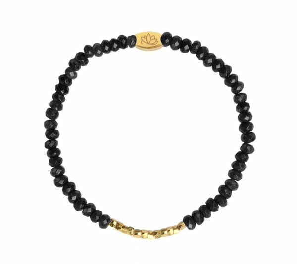 Mas Jewelz 3/4 Facet Blackstone with Nuggets Gold