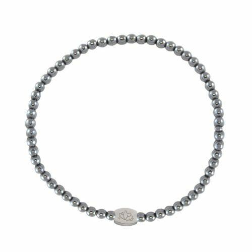 Mas Jewelz 3 mm Hematite Silver