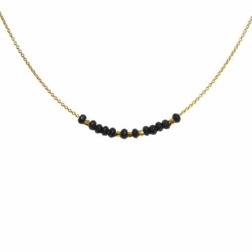 Mas Jewelz collier 3/4 facet Blackstone Goud
