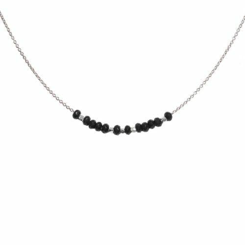 Mas Jewelz collier 3/4 facet Blackstone Zilver