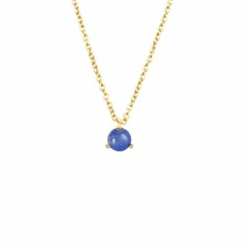 Mas Jewelz necklace Cabuchon Blue Quartz Gold