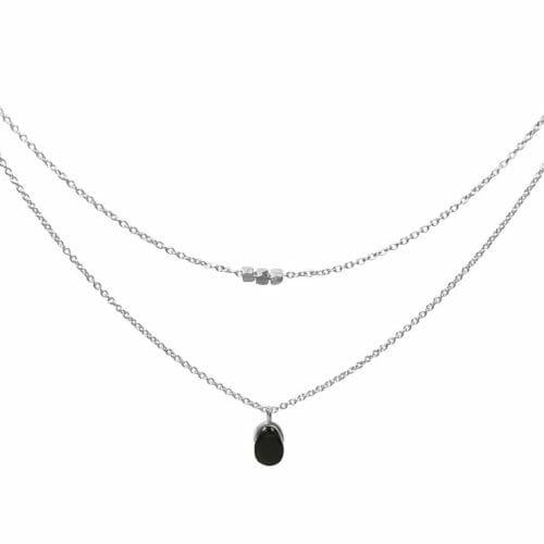 Mas Jewelz necklace Bail double Blackstone Silver
