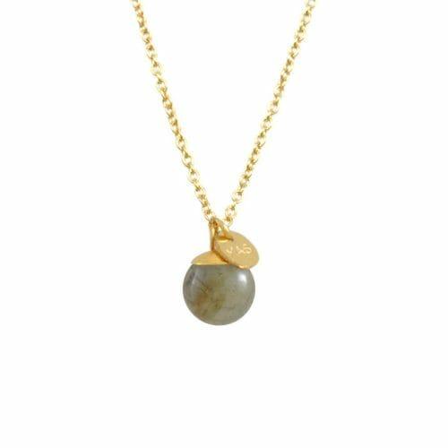 Mas Jewelz necklace Classic Labradorite Gold