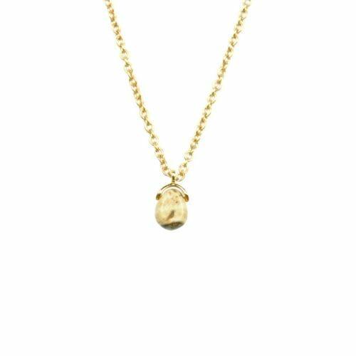 Mas Jewelz necklace Bail Picture Jasper Gold