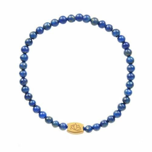 Mas Jewelz 4 mm Lapis Lazuli Model 1 Goud