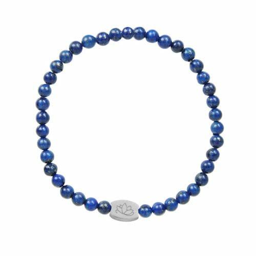 Mas Jewelz 4 mm Lapis Lazuli Model 1 Zilver