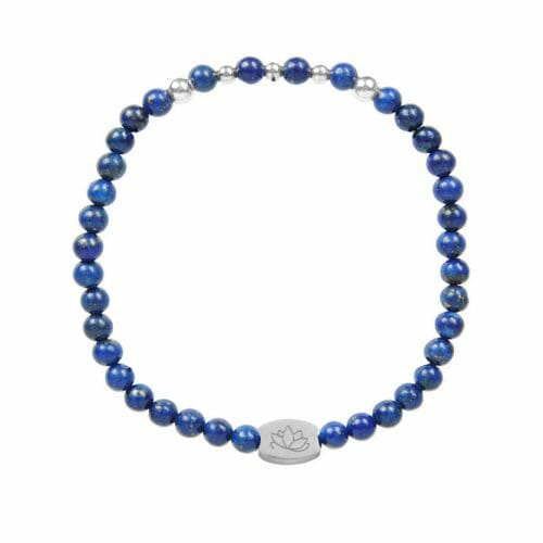Mas Jewelz 4 mm Lapis Lazuli Model 2 Zilver