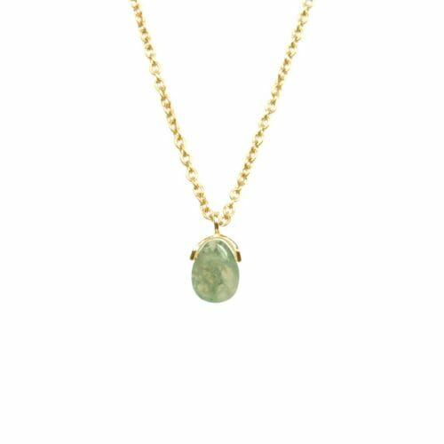 Mas Jewelz necklace Bail Moss Agate Gold