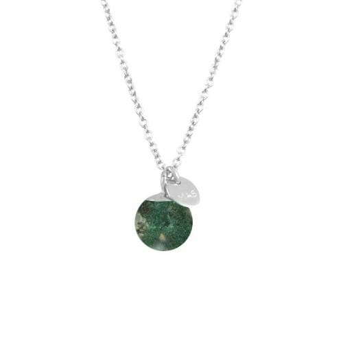 Mas Jewelz necklace Classic Moss Agate Silver