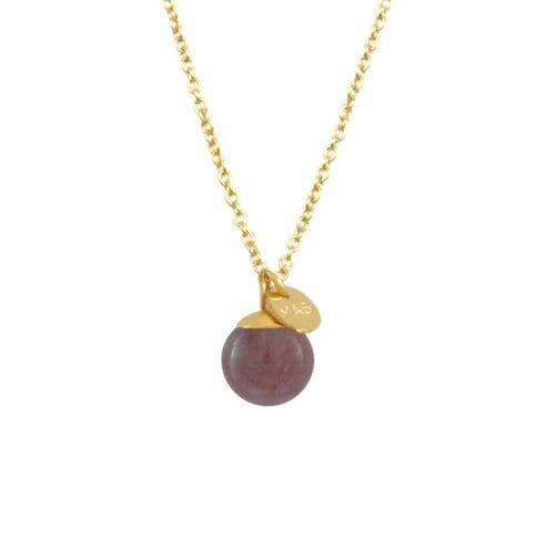 Mas Jewelz Kette Classic Violetter Aventurin Gold