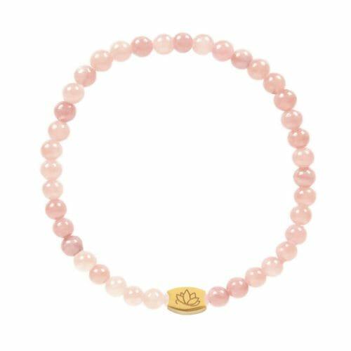 Mas Jewelz 4 mm Pink Opal Model 1 Gold