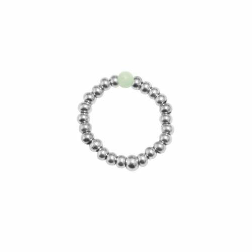 Mas Jewelz Ring 3 mm Amazonite Model 2 Silver