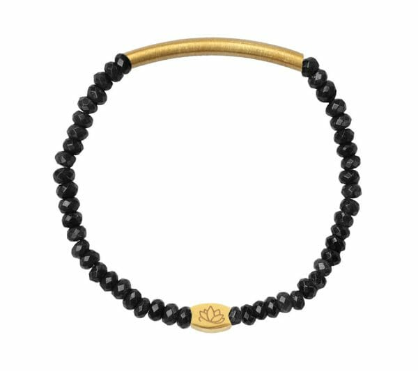 Mas Jewelz 3/4 Facet Blackstone with Tube mat Gold