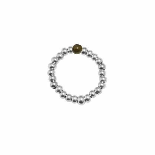 Mas Jewelz Ring 3 mm Labradorite Model 2 Silver