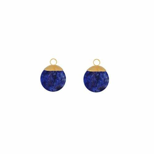 Mas Jewelz Charms 8 mm Lapis Lazuli Gold