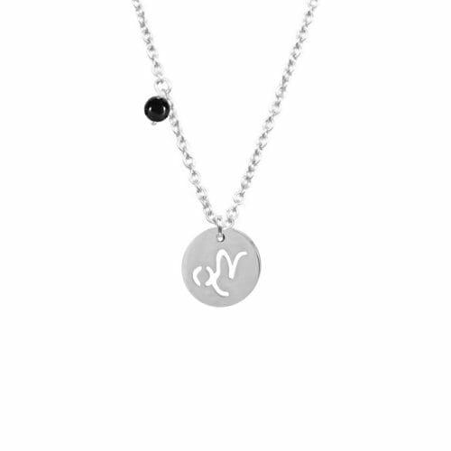 Mas Jewelz Sternzeichen Kette mit Geburtsstein Steinbock Silber