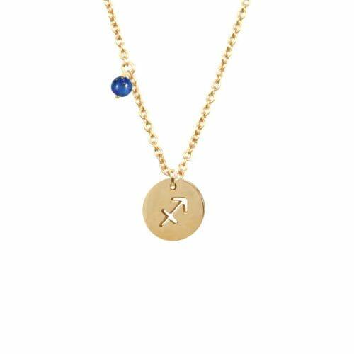 Mas Jewelz Sternzeichen Kette mit Geburtsstein Schütze Gold