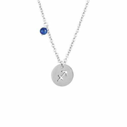 Mas Jewelz Sternzeichen Kette mit Geburtstein Schütze Silber
