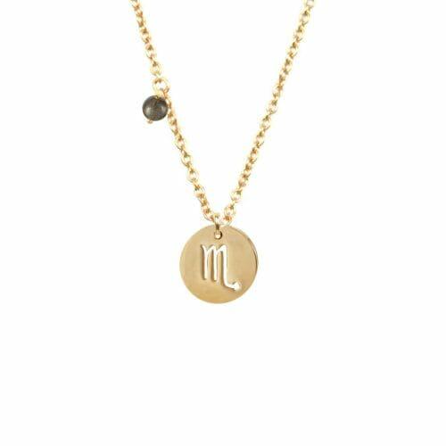 Mas Jewelz Sternzeichen Kette mit Geburtsstein Skorpion Gold