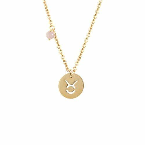 Mas Jewelz Sternzeichen Kette mit Geburtsstein Stier Gold