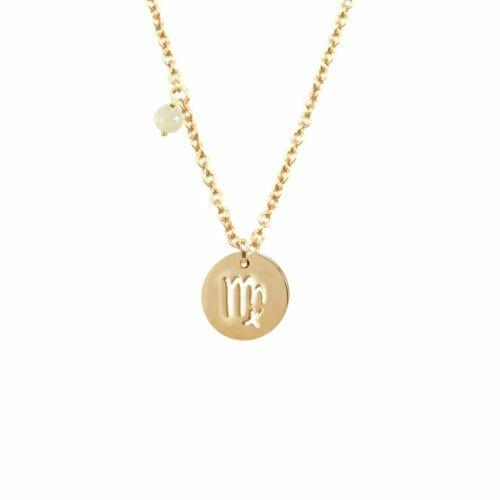 Mas Jewelz Sternzeichen Kette mit Geburtsstein Jungfrau Gold