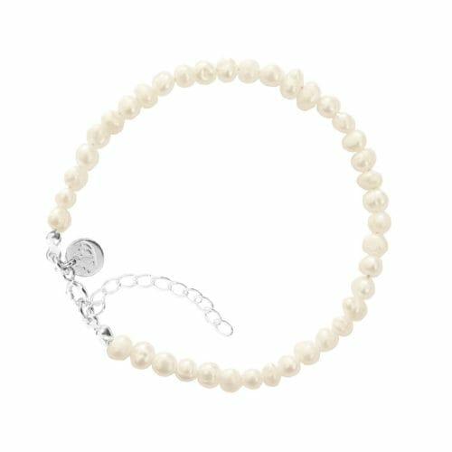 Mas Jewelz Armband 4 mm Perle Silber