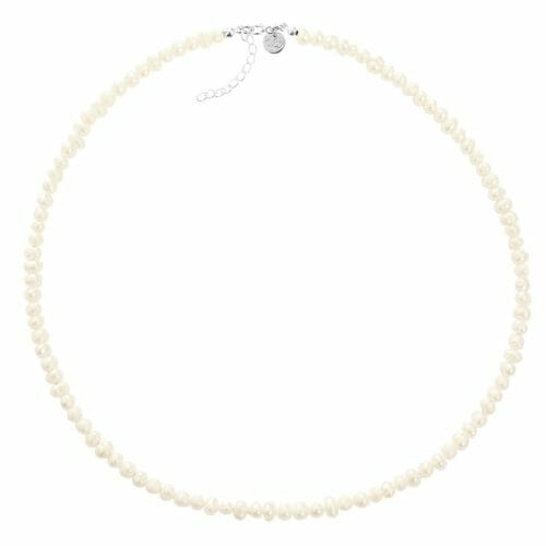 Mas Jewelz necklace 4 mm Pearl Silver